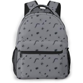 バグ不気味なハロウィーン1 両肩パック多机能大容量軽量高校生用ランドセル男女兼用パソコンパックフィットネス登山旅行パック