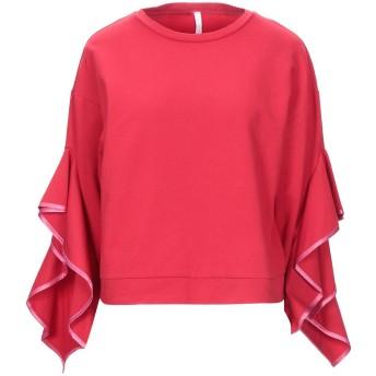 《セール開催中》IMPERIAL レディース スウェットシャツ レッド S 指定外繊維(紙) 95% / ポリウレタン 5%