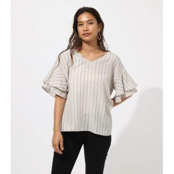 [アズールバイマウジー] tシャツ BACK RIBBON FRILL BLOUSE 250CAA30-310F M ベージュ レディーズ