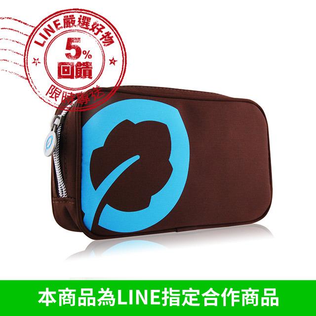 ESCENTS 伊聖詩 旅行包-蔚藍色(17.5X4X10cm)【美麗購】