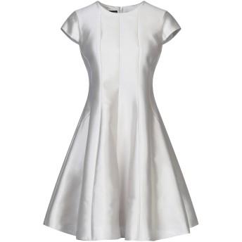 《セール開催中》EMPORIO ARMANI レディース ミニワンピース&ドレス ライトグレー 36 コットン 55% / シルク 45%