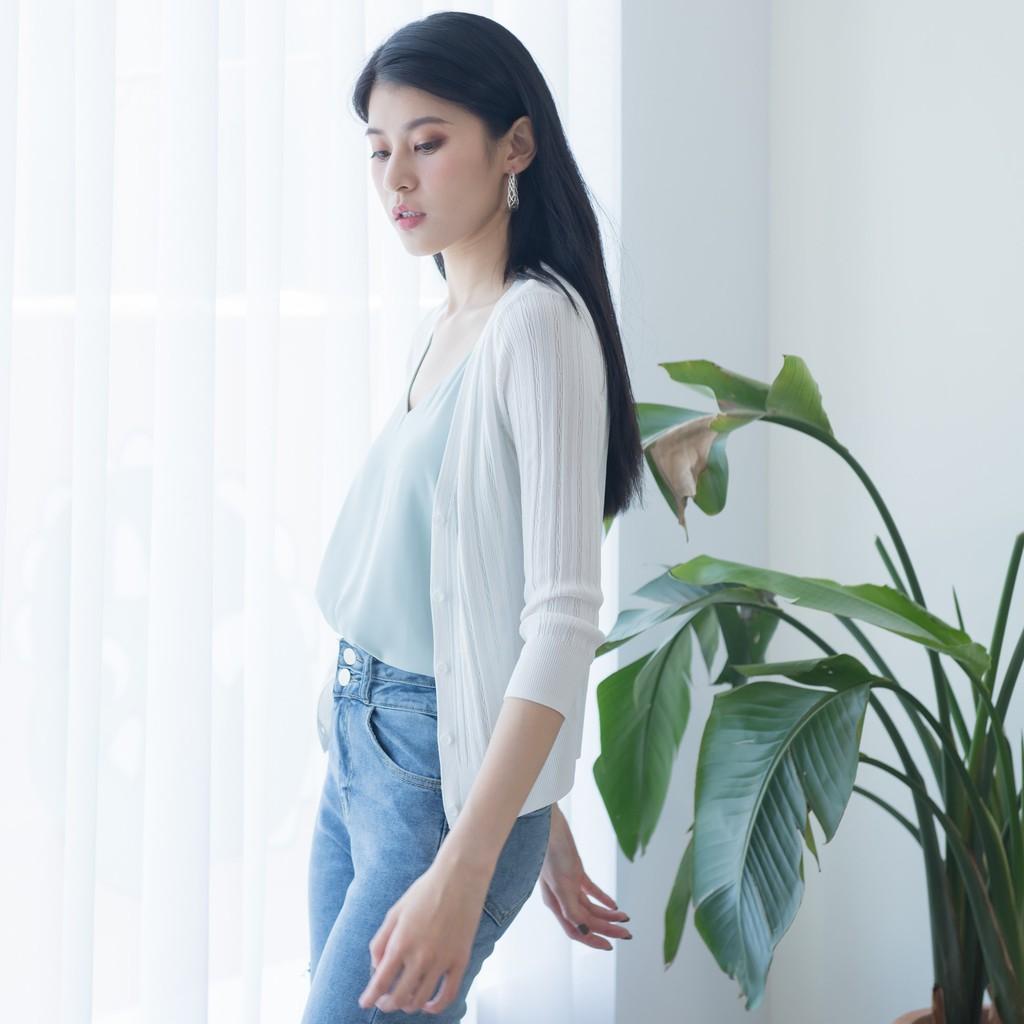【MiROO】麻花針織小外套 (黑/白/橘)