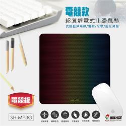 〈SEEHOT〉電競款_超薄靜電式止滑鼠墊 (SH-MP3G)