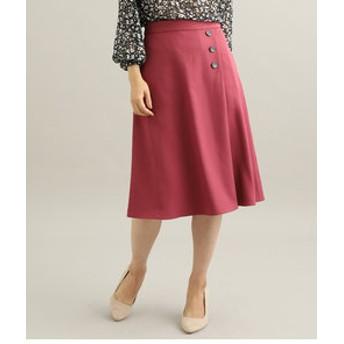 【ViS:スカート】【EASY CARE】【着丈が選べる】ウォッシャブルフラノフレアスカート