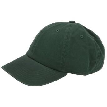 バックヤードファミリー NEWHATTAN ニューハッタン #1400 stonewash Baseball Caps solid メンズ ダークグリーン キャップ 【BACKYARD FAMILY】