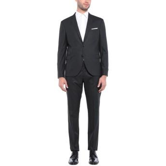 《セール開催中》NEIL BARRETT メンズ スーツ ブラック 50 ポリエステル 69% / レーヨン 29% / ポリウレタン 2%