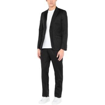 《セール開催中》GAZZARRINI メンズ スーツ ブラック 52 コットン 93% / スチール 7%