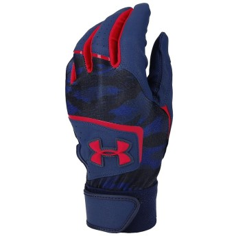 UA CLEAN UP VIII BATTING GLOVE YOUTH UNDER ARMOUR (アンダーアーマー) 1354432 410 NVY