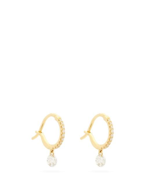 Raphaele Canot - Set Free Diamond & Gold Hoop Earrings - Womens - Yellow Gold