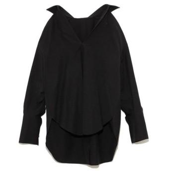 スタイリング オープンバックシャツ レディース BLK F 【styling/】