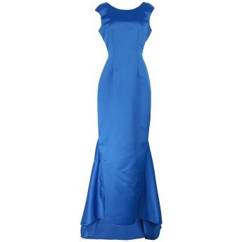 《セール開催中》LANACAPRINA レディース ロングワンピース&ドレス ブルー 42 ポリエステル 80% / コットン 20%
