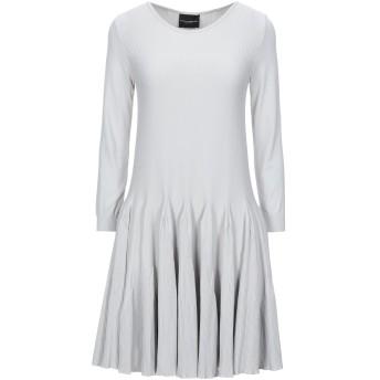 《セール開催中》ATOS LOMBARDINI レディース ミニワンピース&ドレス ライトグレー 40 ナイロン 100%