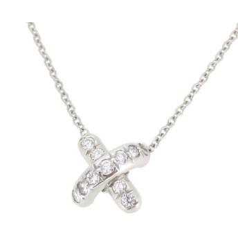 ティファニー クロスステッチ ダイヤモンド ネックレス 11ポイント ダイヤ X シグネチャー Pt950 【ジュエリー】