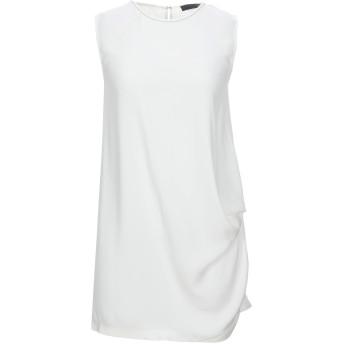 《セール開催中》FABIANA FILIPPI レディース ミニワンピース&ドレス アイボリー 40 シルク 94% / ポリウレタン 6% / 真鍮/ブラス