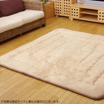 ふっくら敷きカーペット 『フィーラ』 ベージュ 約190×290cm 7011929
