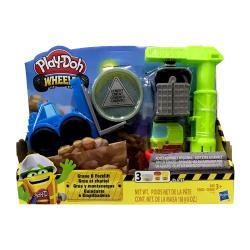 【 Play-Doh 培樂多黏土 】 車輪系列 起重機遊戲