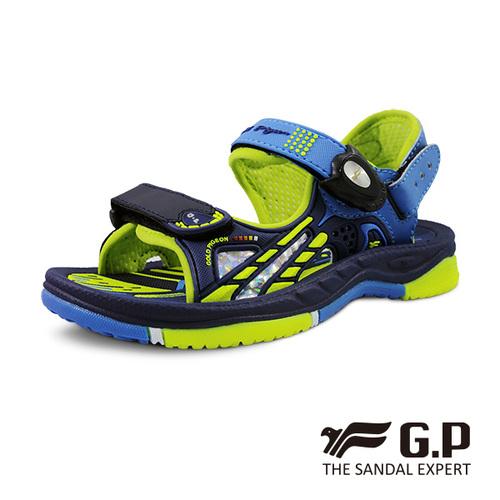 【G.P 兒童柔軟PLUS磁扣兩用涼拖鞋】G0706B-26藍綠色 ( SIZE:26-30 共二色)