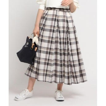 Dessin(Ladies)(デッサン(レディース)) 【XS~Lサイズあり・洗える】ガーゼチェックスカート