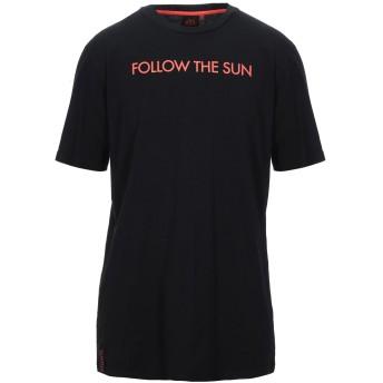 《セール開催中》SUNDEK メンズ T シャツ ブラック L コットン 100%