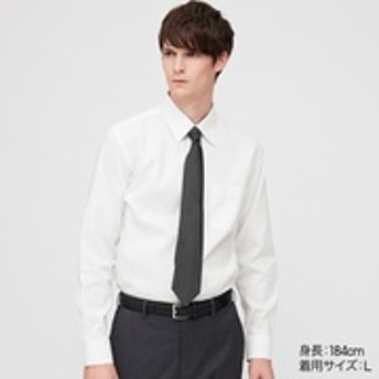 ファインクロススーパーノンアイロンスリムフィットシャツ(レギュラーカラー・長袖)