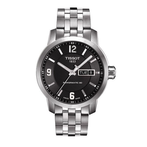 TISSOT 天梭 T0554301105700 PRC200動力儲存80小時機械腕錶/黑面 39mm