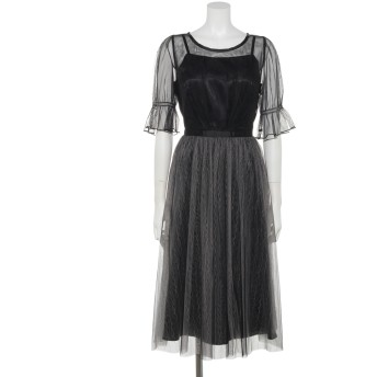 【Rewde】ラメチュール入りドレス(9R04-A1825)