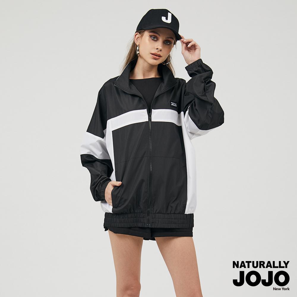 【NATURALLY JOJO】 原創拼接風衣外套 (黑)