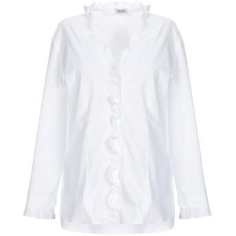 《セール開催中》LIU JO レディース シャツ ホワイト 42 コットン 68% / ナイロン 29% / ポリウレタン 3%