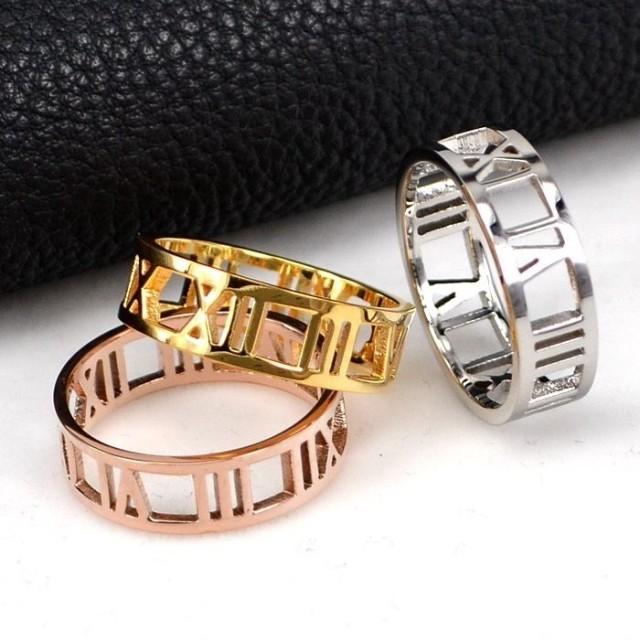 【レディースジュエリーステンレ ス316L 18Kgf ピンクゴールド リング 指輪 ローマ字】リング 指輪 ピンキーリング 色落ちしない高品質!