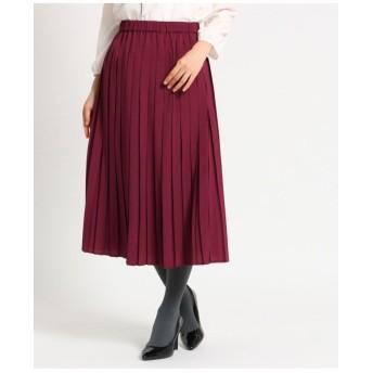 【洗える】ボックスプリーツミディスカート