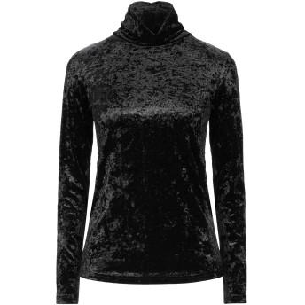 《セール開催中》YES ZEE by ESSENZA レディース T シャツ ブラック S ポリエステル 95% / ポリウレタン 5%