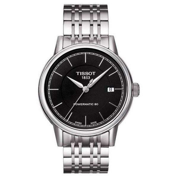 TISSOT 天梭 T0854071105100 CARSON卡森系列經典80小時動力腕錶/黑面 40mm