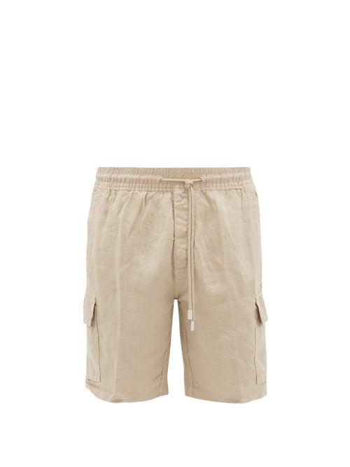 Vilebrequin - Baie Linen Bermuda Shorts - Mens - Beige