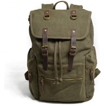 新しいレジャーバックパック屋外桜通勤ピクニックショッピングバッグ多機能キャンバスメンズバッグレトロ大容量登山バッグ旅行スクールバッグ