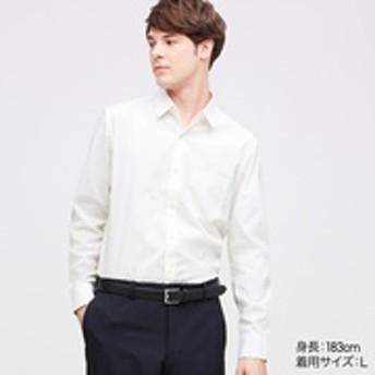 ファインクロスストレッチスリムフィットブロードシャツ(レギュラーカラー・長袖)