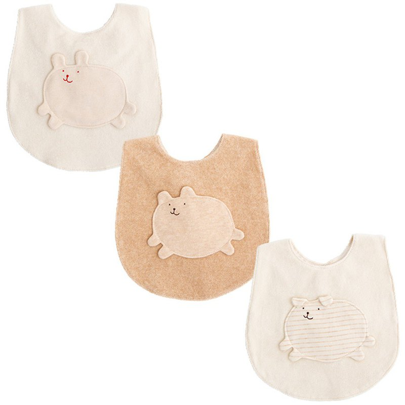 Y-1234 100%日本製造的有機棉迷你麥粒腫圍嘴兔子熊狗