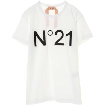 N°21 ヌメロヴェントゥーノ ロゴTシャツ Tシャツ・カットソー,ホワイト
