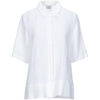 《セール開催中》BLANCA LUZ レディース シャツ ホワイト 38 リネン 100%