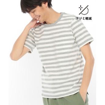 (LAKOLE/ラコレ)【汗ジミ軽減】USAコットンボーダーTシャツ/ [.st](ドットエスティ)公式
