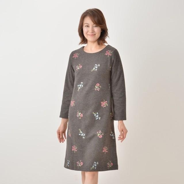 CLEO SUN フラワー刺繍ワンピース