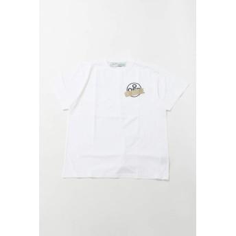 (オフホワイト) OFF-WHITE Tシャツ 丸首 クルーネック OMAA038R201850020148 ホワイト メンズ (AA038R20 185002) 【並行輸入品】【L-ホワイト】