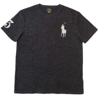 (ポロ ラルフローレン)POLO Ralph Lauren 半袖 Tシャツ BIGPONY メンズ クルーネック 霜降りブラック×グレー XL [並行輸入品]