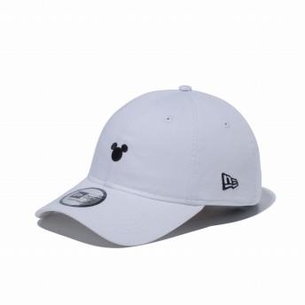 NEW ERA ニューエラ 9THIRTY クロスストラップ ディズニー ミッキーマウス シルエット ホワイト × ブラック アジャスタブル サイズ調整可能 ベースボールキャップ キャップ 帽子 メンズ レディース 56.8 - 60.6cm 12362224 NEWERA