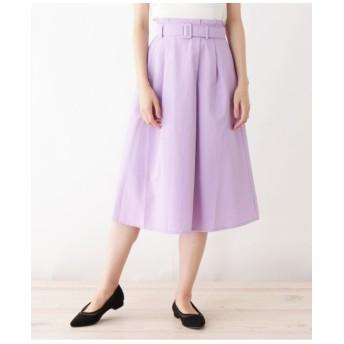 【洗える】グログランタックフレアスカート