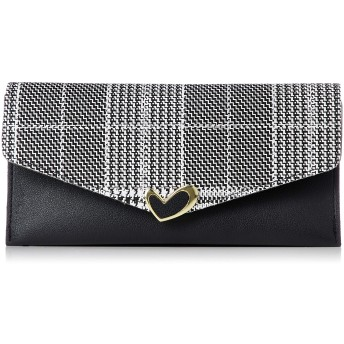 [アイモン] かぶせ長財布 レディース 1FDAI-002-BK-FF ブラック/ワンサイズ