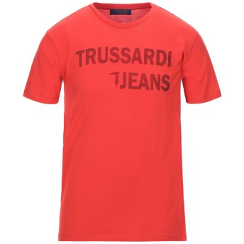 《セール開催中》TRUSSARDI JEANS メンズ T シャツ レッド S コットン 100%