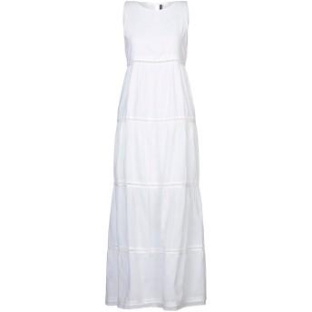 《セール開催中》MANILA GRACE レディース ロングワンピース&ドレス ホワイト 38 コットン 100%