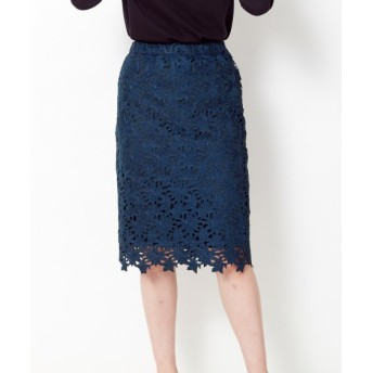レーススカート(ゆったりヒップ)(FIFTH) (大きいサイズレディース)スカート, plus size skirts