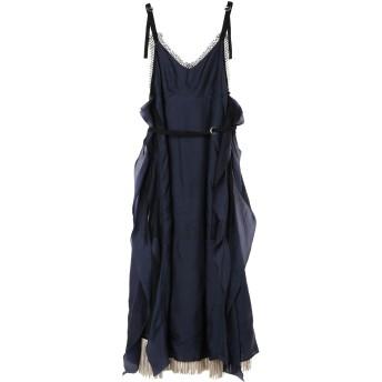 PONTI ポンティ キュプラ2WAYワンピース CUPRA SHANTUNG 2WAY DRESS ワンピース,NAVY