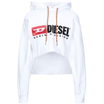 《セール開催中》DIESEL レディース スウェットシャツ ホワイト XS コットン 100% / ポリエステル